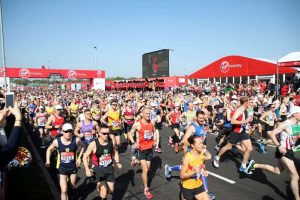 © Provided by Independent Digital News & Media Limited London Marathon runners at the start of the 2018 race (PA)